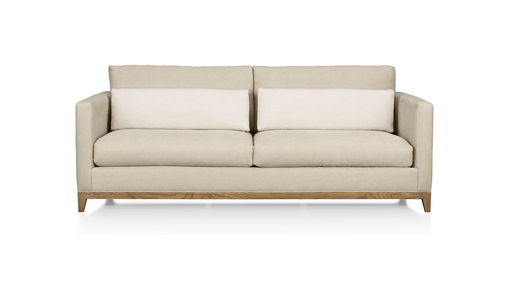 Taraval Apartment Sofa with Oak Base | Crate and Barrel