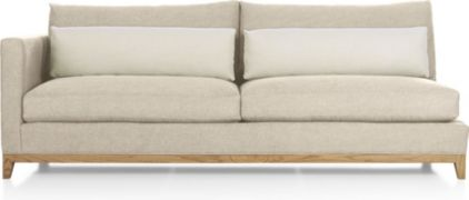 Taraval Left Arm Sofa with Oak Base shown in Tote, Putty