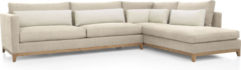 Taraval 2 Piece Sectional With Oak Base Crate And Barrel