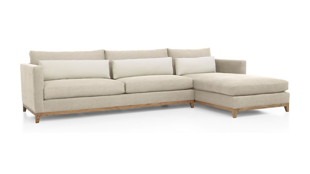 ... Taraval 2 Piece Sectional With Oak Base ...