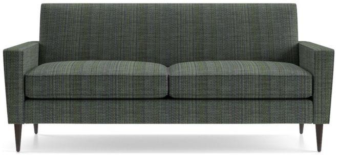 Torino 2-Seat Apartment Sofa shown in Groove, Lagoon