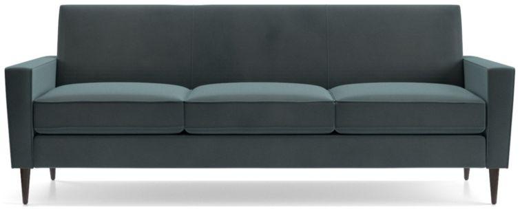 Torino Velvet 3-Seat Sofa shown in Flanders, Teal