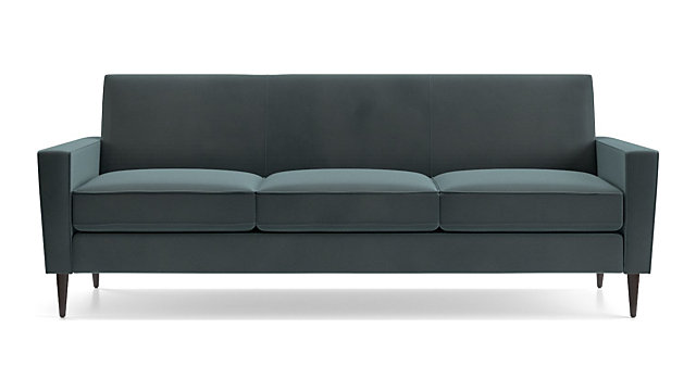 Tap To Zoom Torino Velvet 3 Seat Sofa Shown In Flanders Teal