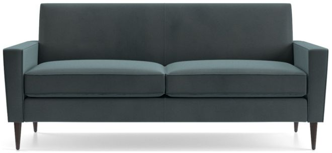 Torino Velvet 2-Seat Apartment Sofa shown in Flanders, Teal