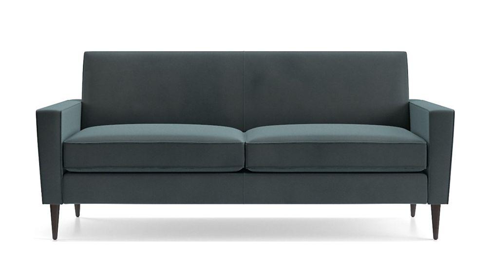 Torino Velvet 2-Seat Apartment Sofa - Image 2 of 5