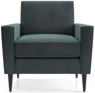 Torino Velvet Chair shown in Flanders, Teal