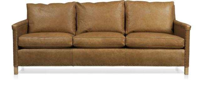 """Trevor Leather 81"""" Sofa shown in Sicily, Camel"""