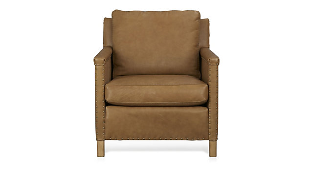 Trevor Leather Chair shown in Sicily, Camel