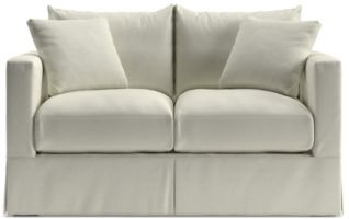 Willow Modern Slipcovered Loveseat shown in Kingston, Snow