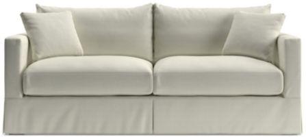 Willow Modern Slipcovered Queen Sleeper Sofa shown in Kingston, Snow