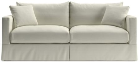 Willow Modern Slipcovered Queen Sleeper Sofa with Air Mattress shown in Kingston, Snow