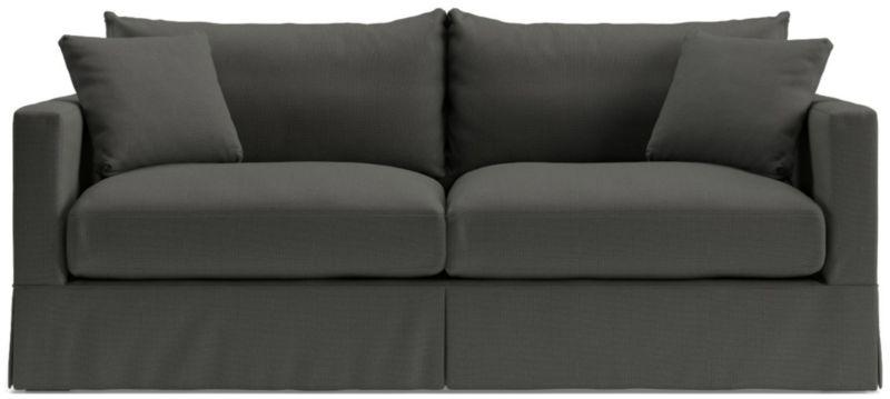 Elegant TAP TO ZOOM Willow Modern Slipcovered Sofa Shown In Kingston, Pepper