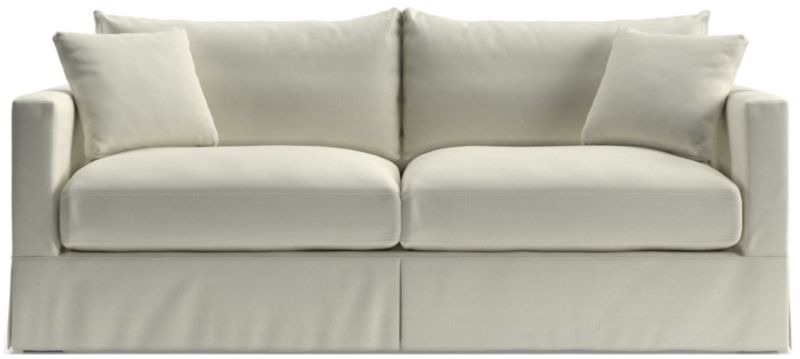 TAP TO ZOOM Willow Modern Slipcovered Sofa Shown In Kingston, Snow