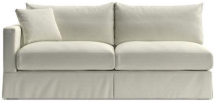 Willow Modern Slipcovered Left Arm Sofa shown in Kingston, Snow