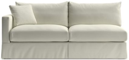 Willow Modern Slipcovered Left Arm Sofa shown in Kingston, Snow