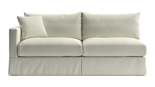 Willow White Left Arm Sofa Reviews Crate And Barrel