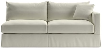 Willow Modern Slipcovered Right Arm Sofa shown in Kingston, Snow