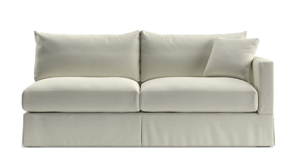 Willow White Right Arm Sofa Reviews Crate And Barrel