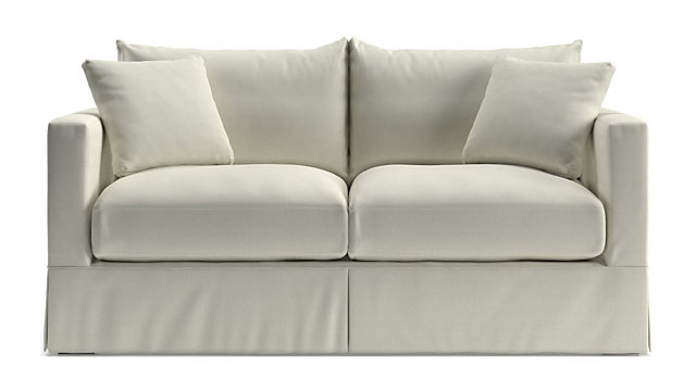 Willow White Apartment Sofa Reviews Crate And Barrel