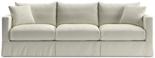 "Willow 103"" Grande Modern Slipcovered Sofa shown in Kingston, Snow"