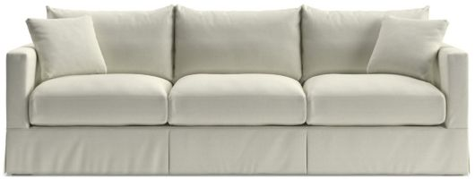 "Willow 103"" Grande Modern Slipcovered Sofa shown in Kingston, Snow"