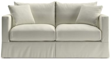 Willow Modern Slipcovered Full Sleeper Sofa with Air Mattress shown in Kingston, Snow