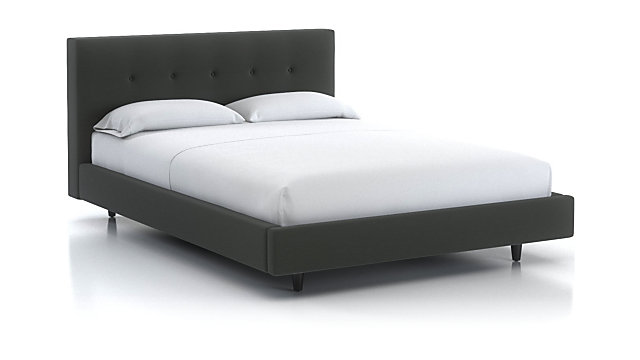 """Tate Full Upholstered Bed 38"""" shown in Winslow, Charcoal"""