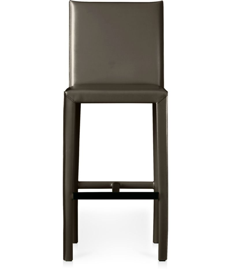 Folio Top Grain Leather Bar Stool Crate And Barrel