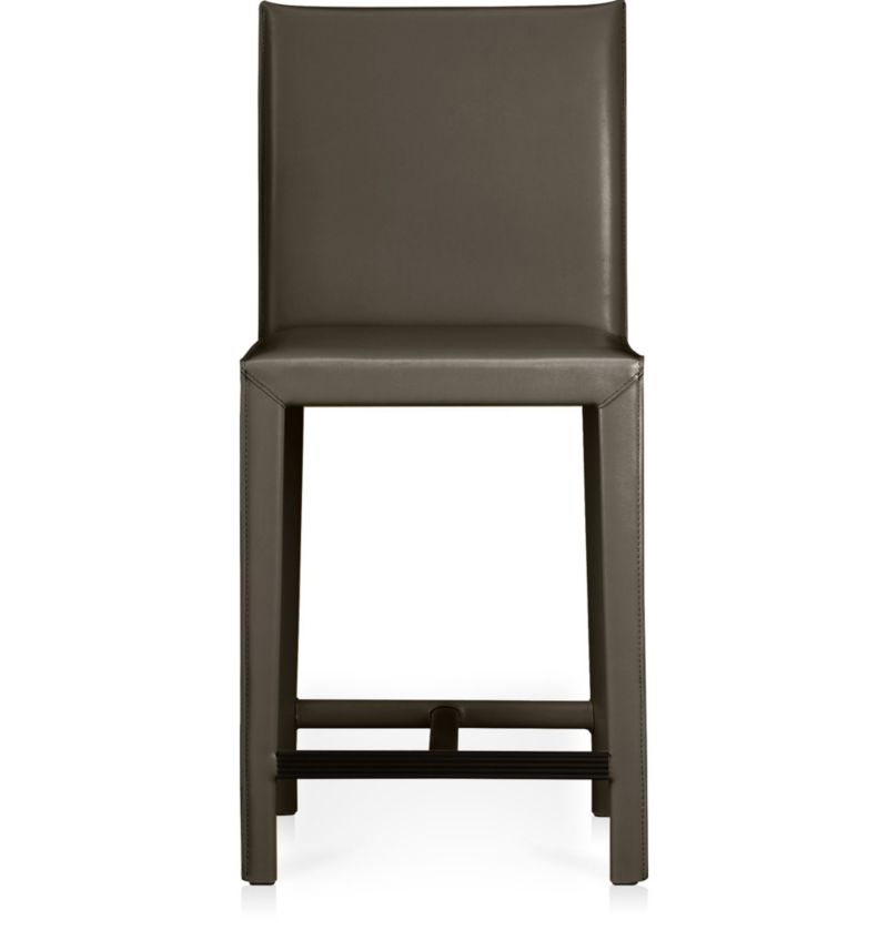 Folio Top Grain Leather Counter Stool Crate And Barrel