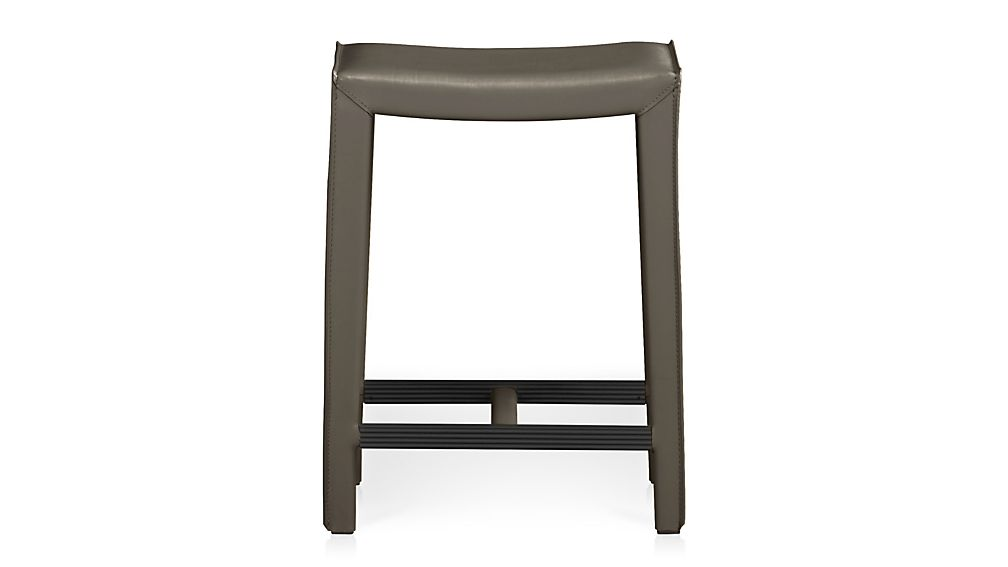 Backless Leather Counter Stools Part - 25: ... Folio Top-Grain Leather Backless Counter Stool ...