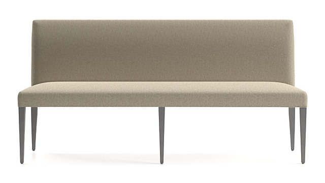 """Miles 76"""" Upholstered Grand Dining Banquette Bench shown in Tobias, Fennel"""