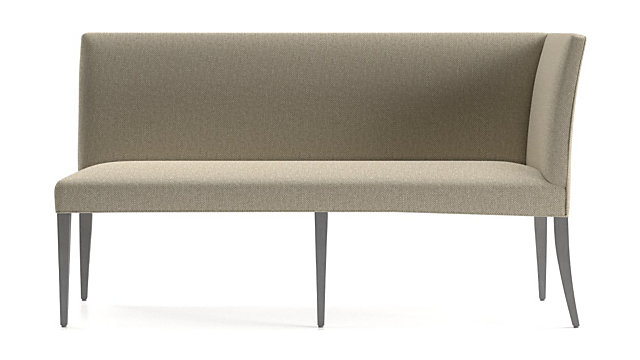 Miles Right Facing Return Banquette Bench shown in Tobias, Fennel
