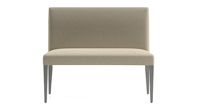"""Miles 42"""" Upholstered Small Dining Banquette Bench shown in Tobias, Fennel"""