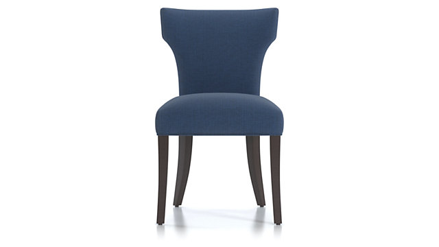 Sasha Upholstered Dining Side Chair shown in Groove, Ink