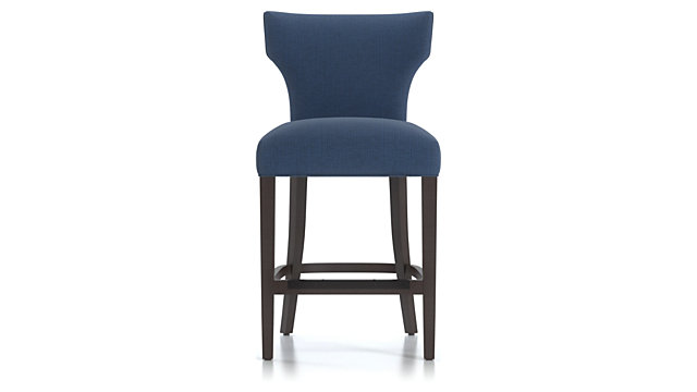 Sasha Upholstered Counter Stool shown in Groove, Ink