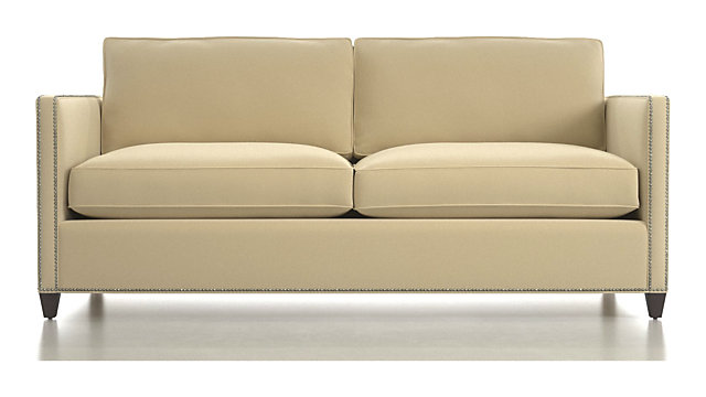 Tap To Zoom Dryden Apartment Sofa With Nailheads Shown In View Wheat