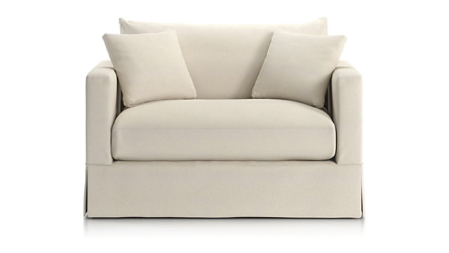 Slipcover Only For Willow Modern Slipcovered Twin Sleeper Sofa Crate And Barrel