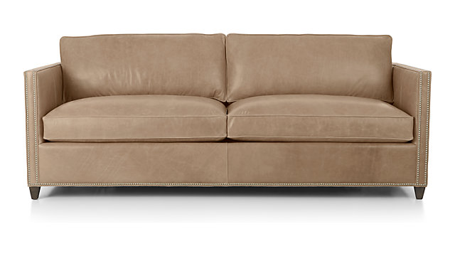 Dryden Leather Sofa With Nailheads Reviews Crate And