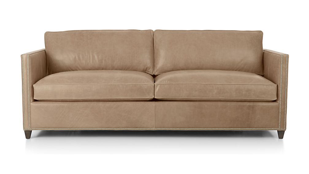 ... Dryden Leather Sofa With Nailheads ...