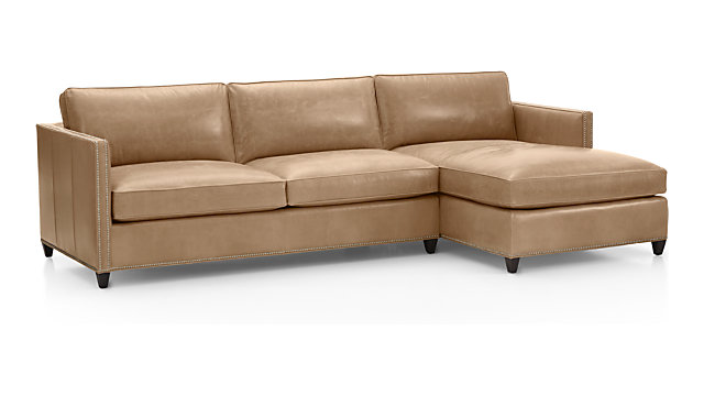 Dryden Leather 2 Piece Sectional With Nailheads Reviews