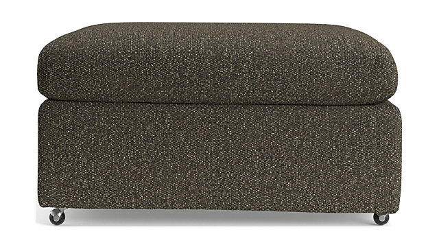 """Lounge II Petite 32"""" Ottoman with Casters shown in Taft, Truffle"""