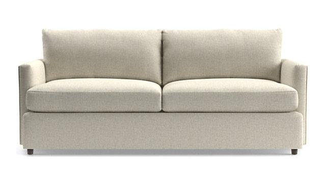"""Lounge II Petite 83"""" Sofa shown in Taft, Cement"""