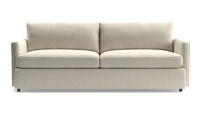 """Lounge II Petite 93"""" Sofa shown in Taft, Cement"""