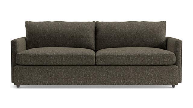 """Lounge II Petite 93"""" Sofa shown in Taft, Truffle"""