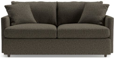 Lounge II Petite Apartment Sofa shown in Taft, Truffle