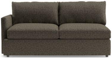 Lounge II Petite Left Arm Apartment Sofa shown in Taft, Truffle