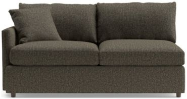 Lounge II Petite Left Arm Apartment Sofa shown in Taft, Truffle