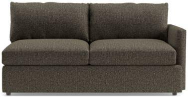 Lounge II Petite Right Arm Apartment Sofa shown in Taft, Truffle