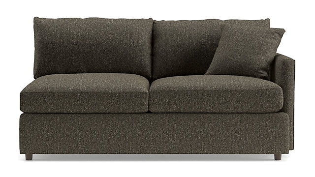 Lounge II Petite Right Arm Apartment Sofa shown in Taft, Truffle