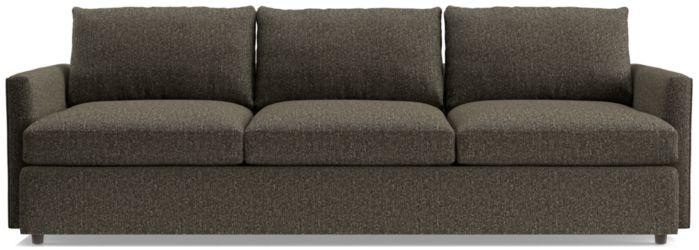 """Lounge II Petite 3-Seat 105"""" Grande Sofa shown in Taft, Truffle"""